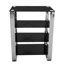 Four Tier Shelf Unit with Chrome Frame