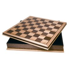 Wood Inlay Chessboard with Storage