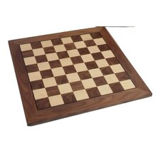 "Premium Quality 16"" Walnut Chessboard"
