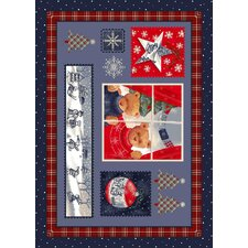 Winter Seasonal Holiday Christmas Cuddles Novelty Rug