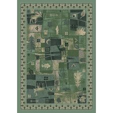 Signature Deer Trail Peridot Novelty Rug
