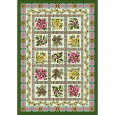 Winter Yuletide Garden Rug