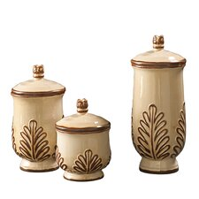 3 Piece Ceramic Urn Set