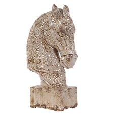 Old World Ceramic Horse Statue