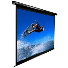 "VMAX2 AcousticPro Electric MaxWhite 110"" 16:9 AR Wide Projection Screen in Black Case"