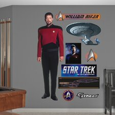 Star Trek William Riker Wall Graphic