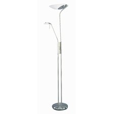 Lucien Torchiere Floor Lamp with Reading Lamp Extension