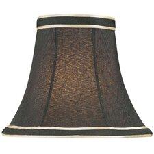 Candelabra Lamp Shade in Black with Gold Trim