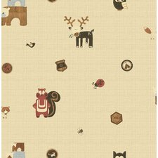 Forager Woodland Critters Wallpaper