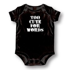 Too Cute For Words Baby Romper
