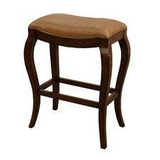 Emilio Stool in Canyon with Biscotti Leather