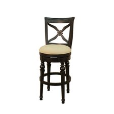 Livingston Stool in Antique Black with Stone Fabric