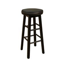 Delta Stool in Black with Black Vinyl