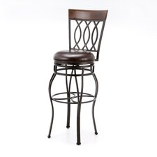 Bella Stool in Pepper with Bourbon Leather