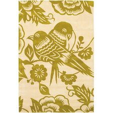 Tufted Pile Love Birds Rug