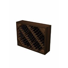 Designer Series 132 Bottle Diamond Bin Below Arch Wine Rack