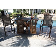 Chub Cay Patio 3 Piece Bar Height Dining Set