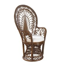 Rattan Peacock  Arm Chair with Cushion