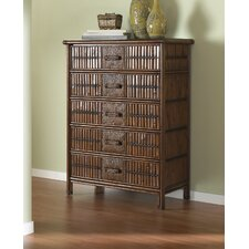 Polynesian Five Drawer Chest