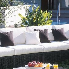 Soho Patio Lounge Armless Chair with Cushion