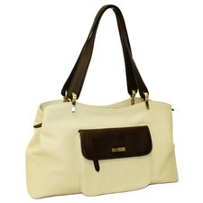 Virtue Shoulder Carrier in Cream with Chocolate
