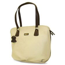 Virtue Bottom Tote Carrier in Cream with Chocolate