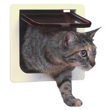Cat Door with 4 Way Lock Pet Door