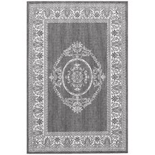 Recife Antique Medallion Grey/White Rug