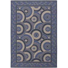 Five Seasons Sundial Cream/Blue Rug