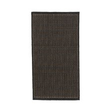 Recife Saddle Stitch Black Cocoa Rug