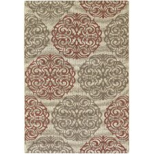 Five Seasons Cream / Coral Red Montecito Rug