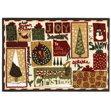Home for the Holidays Mix Novelty Rug