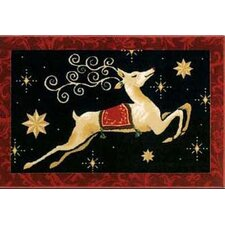Home for the Holidays Dashing Thru The Night Novelty Rug