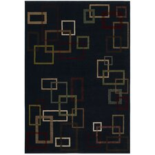 Inspired Design Cubist Black Rug