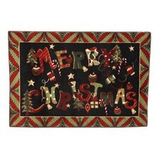 Home for the Holidays Merry Jumble Novelty Rug