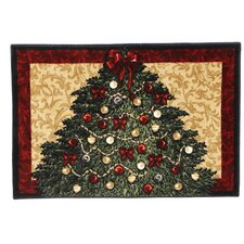 Home for the Holidays Christmas Tree Holiday Novelty Rug