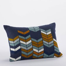 Chevron Stack Linen/Wool Decorative Pillow