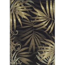 Carlisle Black Leaves Rug