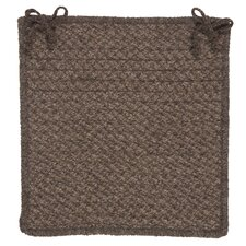 Natural Wool Houndstooth Chair Pad