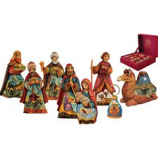 Derevo 8 Piece Nostalgic Nativity Set
