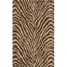 3.8Deco Zebra Brown Rug