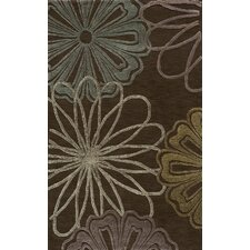 Sensations Flower Brown Rug