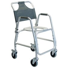 Aluminum Shower Chair with Casters and Option Footrests