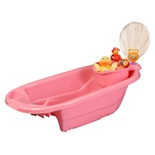 The Potty Patty 2 in 1 Bath Tub with Toy Organizer in Pink