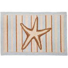 Starfish With Stripes-Blue Rug