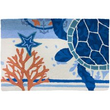 Turtle Medallion Novelty Rug