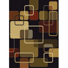 China Garden Jazz Black Multi Rug