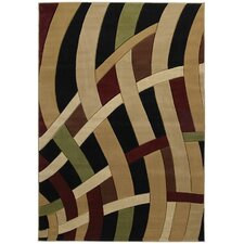 Contours Curves Brown Rug