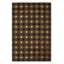 Leather Work Light Brown Rug