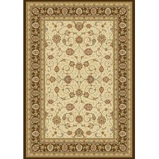 Ancient Garden Ivory/Chocolate Rug